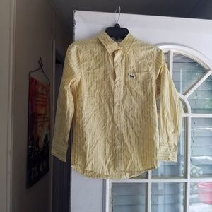 Old navy boys yellow striped shirt size L
